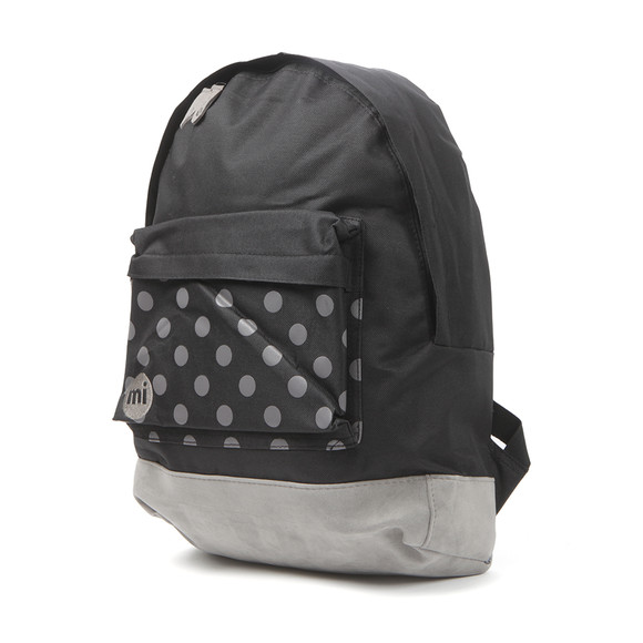 Mi Pac Unisex Black Polkadot Pocket Print Backpack main image