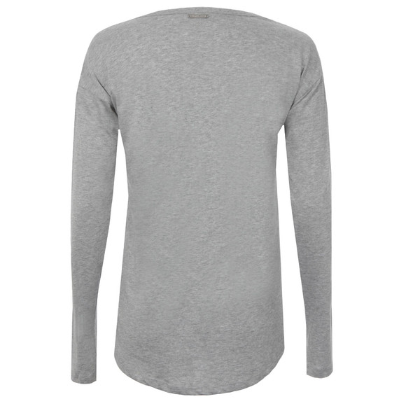 Michael Kors Womens Grey Metallic Trim Long Sleeve  main image