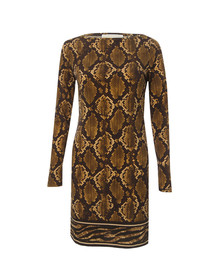 Michael Kors Womens Bronze Snake Print Dress