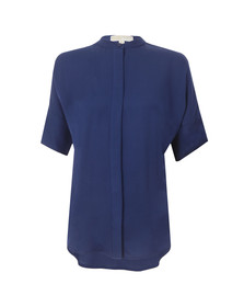 Michael Kors Womens Blue Button Down Shirt
