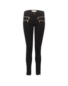 Michael Kors Womens Black Rocker Zip Skinny Pant