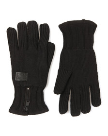 G-Star Mens Black Coper Knit Gloves