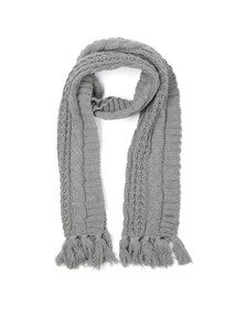 Diesel Mens Grey K-Marylin Knitted Scarf