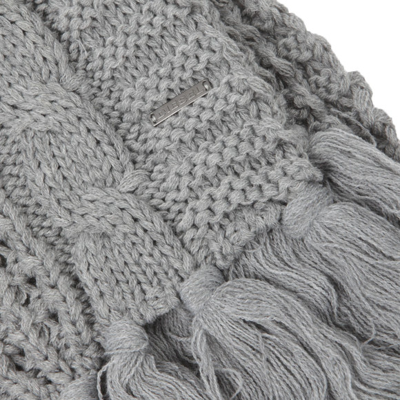Diesel Mens Grey K-Marylin Knitted Scarf main image