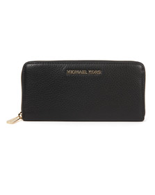 Michael Kors Womens Black Gold Bedford Continental Purse