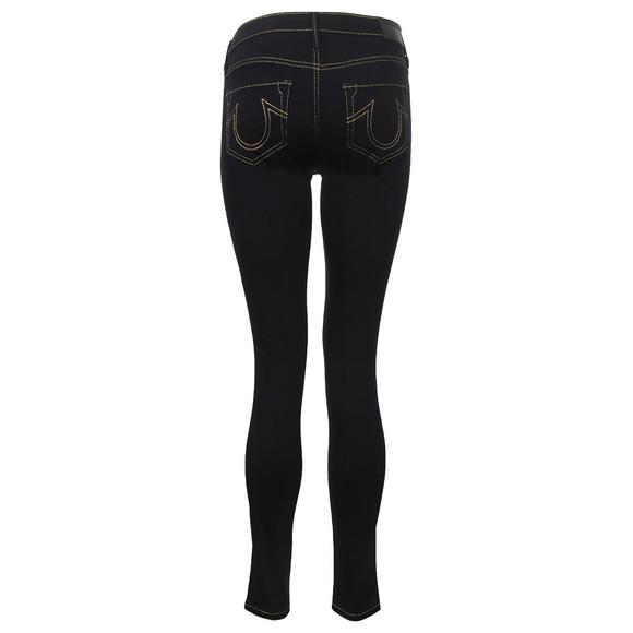 True Religion Womens Blue Mid Rise Halle Super Skinny Jean main image