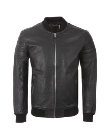 Religion Mens Black Leven L/S Leather Jacket
