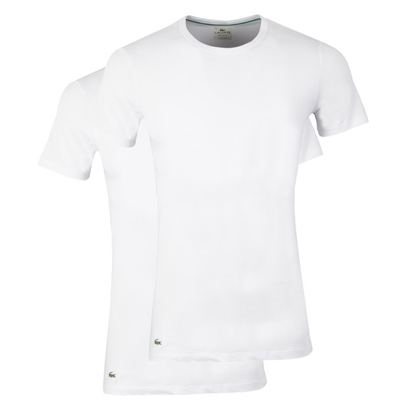 Lacoste Mens White Two Pack T-Shirts main image