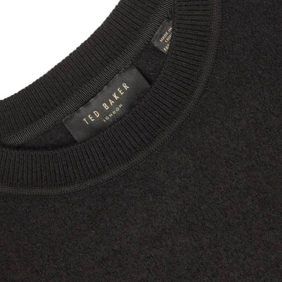 Ted Baker Womens Black Phillia Leather Trim Sweater main image