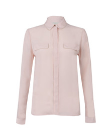 Ted Baker Womens Pink Caresse Silver Chain Detail Shirt