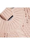 Barbour International Womens Beige Katana Cable Knit Jumper