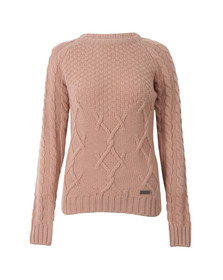Barbour Lifestyle Womens Pink Ursula Knitted Jumper