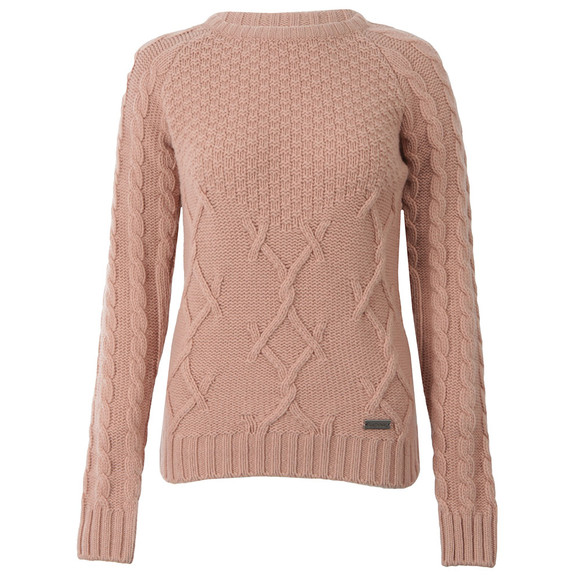 Barbour Lifestyle Womens Pink Ursula Knitted Jumper main image