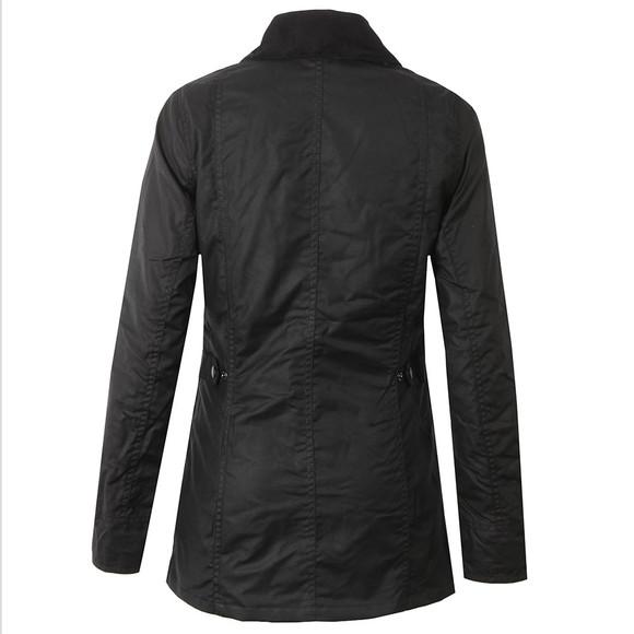 Barbour Lifestyle Womens Black Straiton Wax Jacket main image