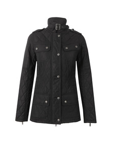 Barbour International Womens Black Fireblade Ribbed Quilted Jacket