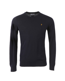 Farah Mens Blue Mullen Wool Crew Jumper