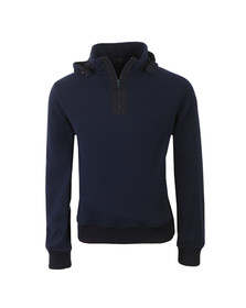 Paul & Shark Mens Blue Half Zip Hooded Sweat