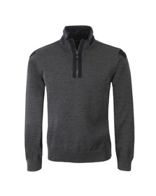 Paul & Shark Mens Grey 1/2 Zip Knitted Jumper