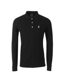 Psycho Bunny Mens Black Classic Long Sleeve Polo Shirt
