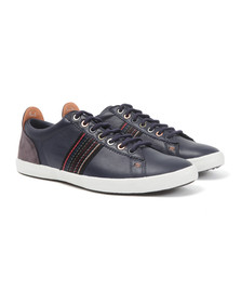 Paul Smith Jeans Mens Blue Osmo Leather Trainer