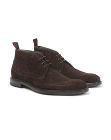 Hugo Mens Brown C-Corton Suede Boot