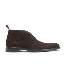 Hugo Mens Brown C-Corton Suede Boot