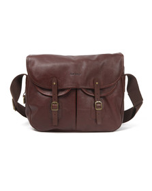 Barbour Lifestyle Mens Brown Leather Tarras Bag