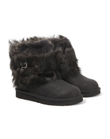Ugg Girls Black Ellee Leather Boot