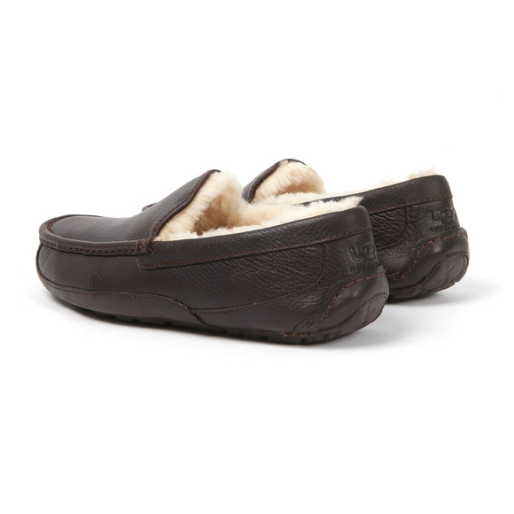 Ugg Mens Brown Ascot Leather Slipper main image