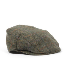 Barbour Lifestyle Mens Green Moons Tweed Cap