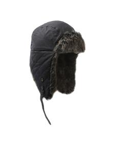 Barbour Lifestyle Mens Blue Wax Grasmere Trapper Hat