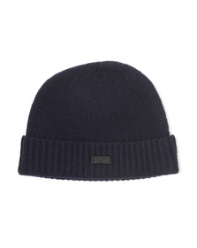 Fred Perry Mens Blue Felted Skull Beanie