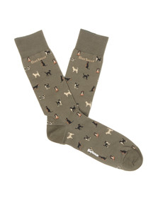 Barbour Lifestyle Mens Green Mavin Dog Socks