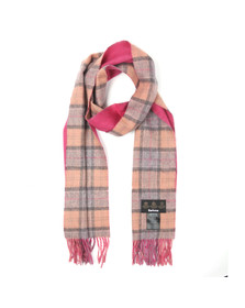 Barbour Lifestyle Mens Multicoloured Double Faced Check Scarf