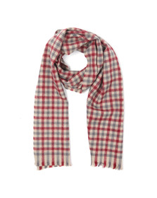 Ben Sherman Mens Beige Woven House Gingham Scarf