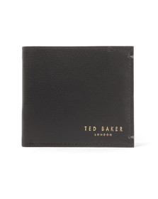 Ted Baker Mens Black Core Bi-fold Coin Leather Wallet