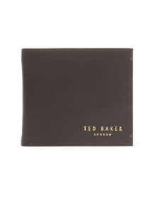 Ted Baker Mens Brown Core Bi-fold Leather Wallet