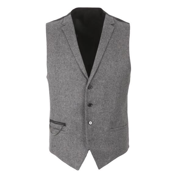 HUGO Mens Grey Wiad Waist Coat