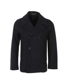Gant Mens Blue Wool Pea Coat