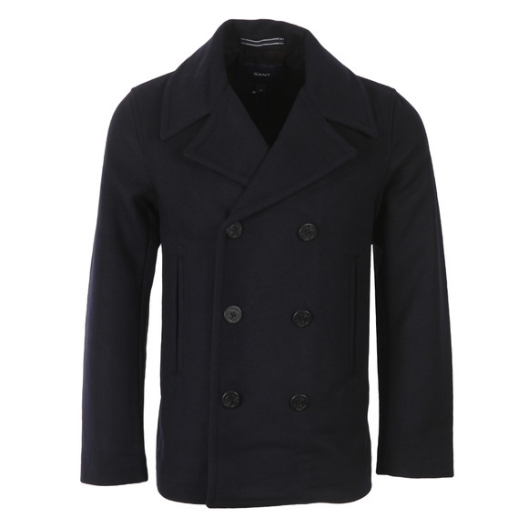 Gant Mens Blue Wool Pea Coat main image