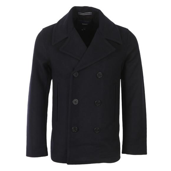 Gant Mens Blue Wool Pea Coat