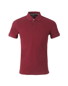 Aquascutum Mens Red Hilton Pique Polo