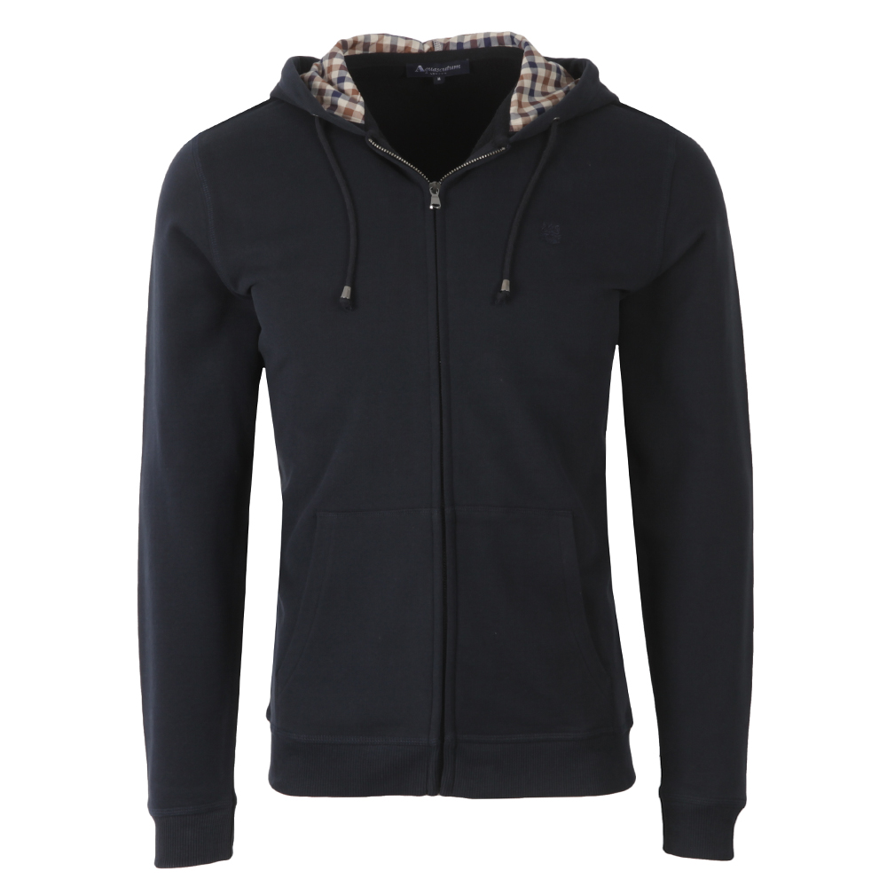 Aquascutum Luther Full Zip Hoody Navy Mens