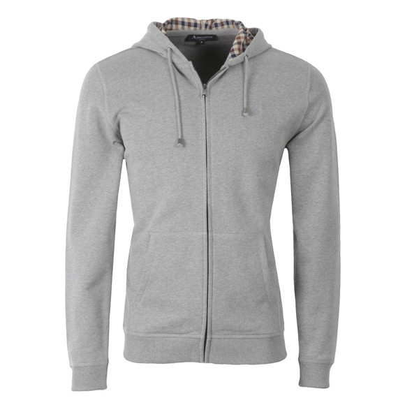 Aquascutum Mens Grey Luther Hoody main image