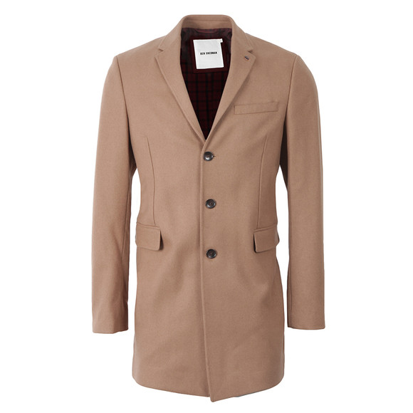 Ben Sherman Mens Brown Covert Coat main image