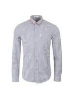 Tipped Collar Gingham Shirt