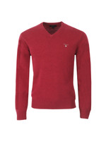 Gant Solid Lambswool V Neck Jumper