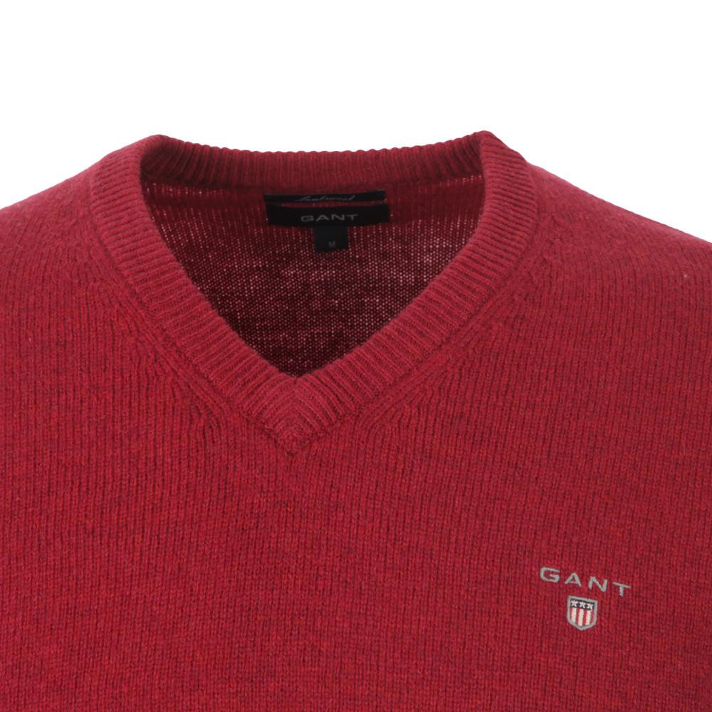 Gant Solid Lambswool V Neck Jumper main image