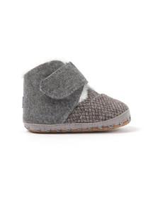 Toms Boys Grey Cuna Felt Tweed First Shoe