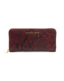 Michael Kors Womens Red Jet Set Zip Purse